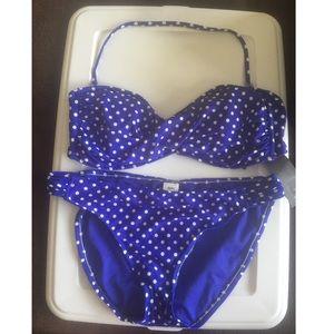 Mossimo Blue Polka Dot Bikini NWT